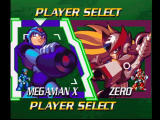 Mega Man X4 PlayStation Player Select
