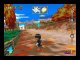 Snowboard Kids Nintendo 64 Sinobin on another part of this 9-lap course
