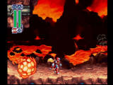 Mega Man X4 PlayStation Zero versus the Volcano