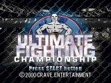 Ultimate Fighting Championship PlayStation Title screen