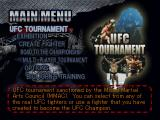 Ultimate Fighting Championship PlayStation Main menu