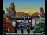 Mega Man X4 PlayStation Megaman X on the Military Train