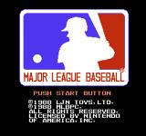 Major League Baseball NES Title Screen