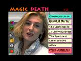 The Magic Death: Virtual Murder 2 Windows 3.x Investigation menu