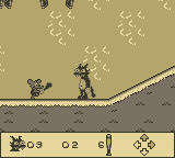 Itchy & Scratchy in Miniature Golf Madness Game Boy Oh no!  It's Itchy!
