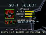 Batman Beyond: Return of the Joker Nintendo 64 Suit selection screen