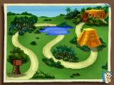 Dora the Explorer: Lost City Adventure Windows Map shows the route to the Lost City and enjoins the player to remember: pond, pyramid, Lost City.