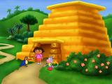 Dora the Explorer: Lost City Adventure Windows The Number Pyramid: Señor Tucán can't navigate the pyramid because he has lost his glasses.