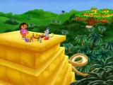 Dora the Explorer: Lost City Adventure Windows Atop the Pyramid - as each game is completed the player is serenaded by this little trio.