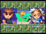 Super Puzzle Fighter II Turbo PlayStation Ryu vs Chun-Li