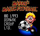 Marko's Magic Football Game Gear Title screen