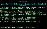 Isoleur Amstrad CPC Instructions