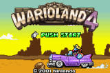 Warioland 4 Game Boy Advance Title Screen