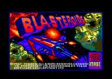 Blasteroids Amstrad CPC Title screen