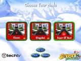 Super Elf Bowling Windows Pick what mode to play, original Elf Bowling style, slingshot or Super Elf Bowling style.