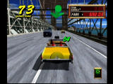 Crazy Taxi 2 Dreamcast You get higher fares when you have to cross the bridge.