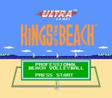 Kings of the Beach NES Title screen