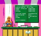Kings of the Beach NES Options screen