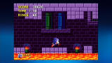 Sonic the Hedgehog Xbox 360 Marble blocks drop to help Sonic cross the lava.