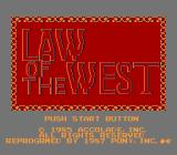 Law of the West NES Title screen