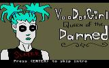 Voodoo Girl:  Queen of the Darned Atari ST Title sceen