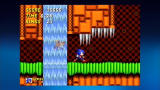 Sonic the Hedgehog 2 Xbox 360 Tails hovers behind a waterfall.