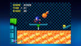 Sonic the Hedgehog 2 Xbox 360 Carefully seesawing over lava.