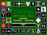 The Pure Wargame DOS Main menu