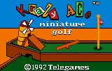 Krazy Ace Miniature Golf Lynx Title screen