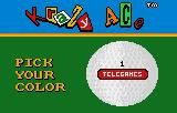 Krazy Ace Miniature Golf Lynx Now, player 1, what color will your golf ball be?