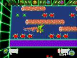 Frogger 2: Swampy's Revenge Windows Death of a polygon frog in pixel alligator.