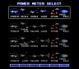 Gradius II NES Power meter select: in this screen you choose what kind of equipment your ship will acquire along the game.