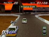 Destruction Derby PlayStation View the scenery while bumping into your enemies.
