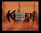 Kessen PlayStation 2 Main Menu (it upgrades with options as you finish the games)