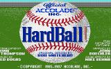 HardBall! Apple IIgs Title screen