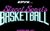 Street Sports Basketball DOS Title Screen