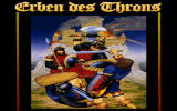 Heirs to the Throne DOS Title screen (German version).