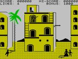 Zorro ZX Spectrum Notice how the green is in a colour-clash-proof screen area