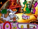 Putt-Putt Travels Through Time Windows Interrupting a busy blacksmith.