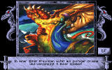 Heirs to the Throne DOS Beautifully drawn pictures illustrate random events such as a rampaging dragon...