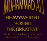 Muhammad Ali Heavyweight Boxing Genesis Title screen