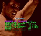 Muhammad Ali Heavyweight Boxing Genesis Options screen
