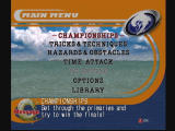 Surf Rocket Racers Dreamcast Main Menu
