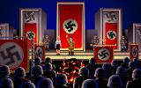 Indiana Jones and The Last Crusade: The Graphic Adventure DOS A Nazi book burning rally in Berlin, Germany.