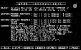 Space Battles DOS Space War game instructions (CGA graphics mode)