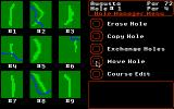 World Tour Golf Apple IIgs The course editor