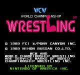 WCW: World Championship Wrestling NES Title screen