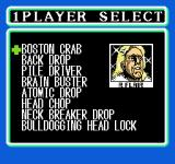 WCW: World Championship Wrestling NES Pick your special moves.  Each one is assigned to a direction on the D-pad