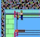 WCW: World Championship Wrestling NES About to perform a special move - notice the power bar at the bottom of the screen.