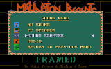Framed DOS Sound menu